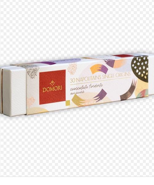 DOMORI Cofanetto 30 Cioccolatini Fondenti Napolitains Single Origins 140 gr